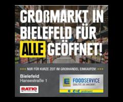"""Einkaufen im Lebensmittelgroßmarkt vorübergehend """"FÜR ALLE"""""""