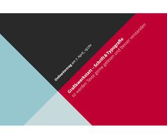 Grafikwerkstatt: Schrift & Typografie – OnlineVortrag zum Thema Gestalten mit Schrift